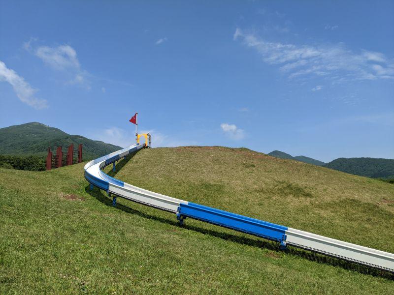だんパラ公園のローラー滑り台
