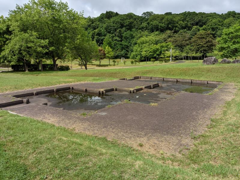 川上公園の水の遊び場