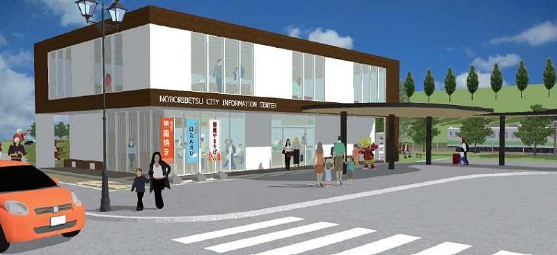 (仮称)登別市情報発信拠点施設の建物パース画像